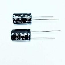100мкФ (UF) 100В (V) CHONG