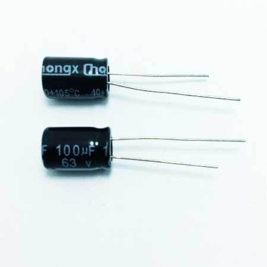 100мкФ (UF) 63В (V) CHONGX