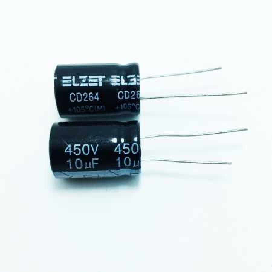 10мкФ (UF) 450В (V) ELZET