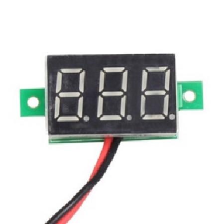 Цифровой вольтметр 4.5-30V DC зелёный