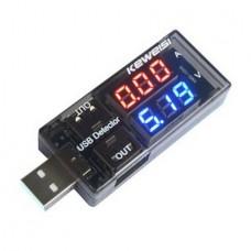 Двухрядный USB вольтметр-амперметр