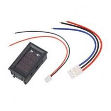 Цифровой вольтметр-амперметр 100V 10A DC