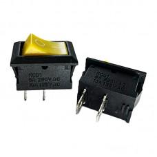 Перемикач KCD1 (6A 250V) жовтий без підсвічування