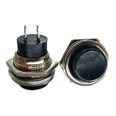 Кнопка кругла PBS-26B (DS-212) чорна без фіксації