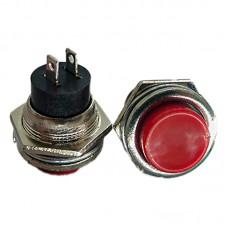 Кнопка кругла PBS-26B (DS-212) червона без фіксації