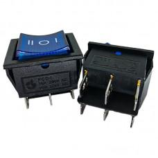 Перемикач KCD4 (16A 250V) синій з підсвічуванням