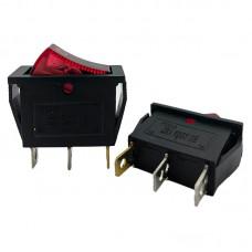 Перемикач KCD3 (16A 250V) червоний з підсвічуванням