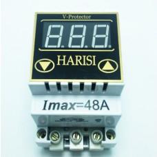 Реле напряжения (барьер) 48А на DIN-рейку цифровой Harisi