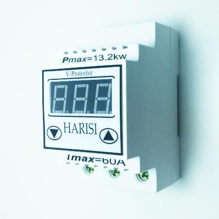 Барьер напряжения на DIN-рейку 60А Harisi (лифтовые клеммы)