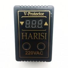 Реле напряжения (барьер) 10А розеточный цифровой Harisi