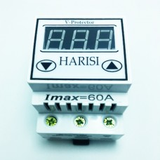 Реле напряжения (барьер) 60А на DIN-рейку цифровой Harisi (лифтовые клеммы)